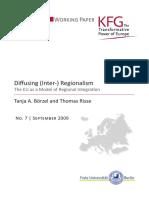 Diffusing Regionalism EU as a Model