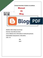 Manual Blogger PDF