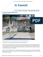 Data Firms Weigh in on South Korean Presidential Race During Polling Blackout