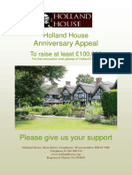 Holland House Anniversary Appeal 2017