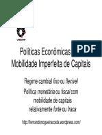 13 Mobilidade Imperfeita de Capital