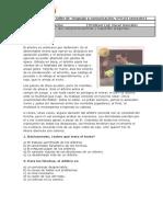 Evaluación de Taller de Lenguaje y Comunicación 9