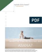 Cuál Es El Propósito de La Asana
