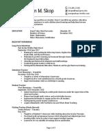 skop - resume