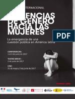 """Programa sobre Seminario Internacional """"Violencia de género hacia las mujeres"""""""