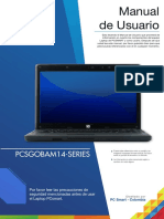 Manual de Usuario Pcsgobam14-Series