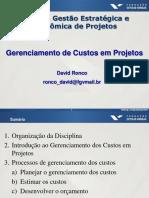 Gerenciamento de Custos - Apresentação - David Ronco - Mar2015
