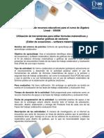 Guía Edición de Fórmulas Matemáticas, Graficas, Vectores