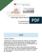 8. Eloy Alvarez. Hemorragia Uterina Disfuncional (1)