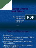 Computer Crimes and Ethics