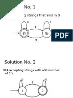Solutions DFA Problem
