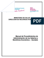 MANUAL de Procedimientos Admon Salarios y Benef Sociales