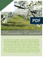Ramadan Essentials 07152013