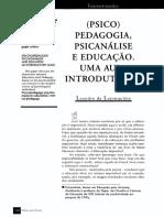 (Psico)Pedagogia, Psicanálise e Educação. Uma Aula Introdutória.pdf
