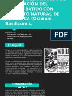 Estudio Del Proceso de Elaboración Del Yogurt Batido
