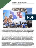 Antonio Rubio Plo.Marine Le Pen y el mito de la Tercera República.www.blog.rielcano.org /marine-le-pen-mito-la-tercera-republica/