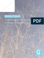 Digital Trust - Towards a more sustainable approach to personal data