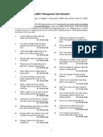 Conflict Management Questionnaire