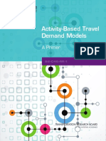 Activity Based Travel Demand Models