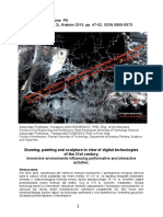 Drawing Painting and Sculpture in View of digital technologie by Krystyna Januszkiewicz and Tomasz Matusewicz
