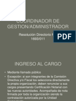 Perfil Coordinador de Gestion