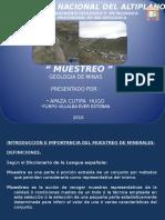 Geologia Minas Muestreo