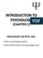 Week 2 Introduction to Psychology
