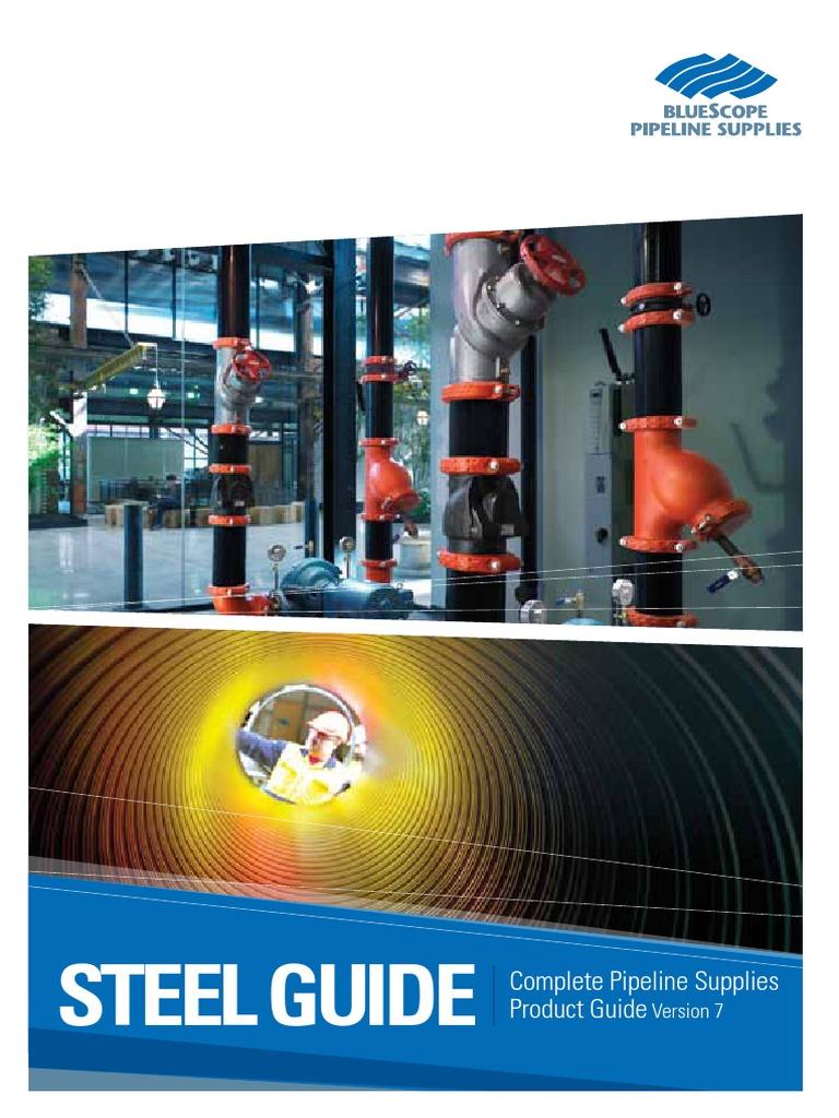 BPS SteelGuide2013 Piping Datasheet | Sheet Metal | Pipe (Fluid