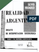 Silvio Frondizi, La Realidad Argentina. Tomo I. El Sistema Capitalista (OCRed 1955)