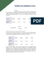 Tasa Contable de Ganancia Trabajo de Finanzas