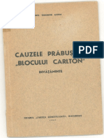 Cauzele Prabusirii Blocului Carlton, Invataminte - Ed. Cartea Romaneasca - Achim T - 1941