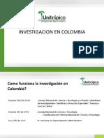 UNITROPICO Investigacion en Colombia y Productos de Investigacion