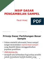1) Prinsip Dasar Pengambilan Sampel