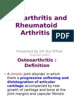 Ra and Osteoarthritis r If