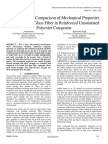 Evaluation and Comparison of Mechanical Properties of Banana and Glass Fiber in Reinforced Unsaturated Polyester Composite