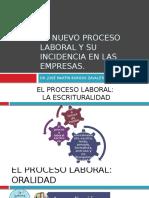 El Nuevo Proceso Laboral y Su Incidencia