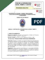 Programa Planificacion y Control de Proyectos - Fin
