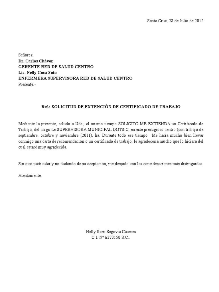 Carta De Solicitud De Trabajo Como Enfermera Carta de solicitar ...