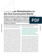Alain Badiou From False Globalisation to the One Communist World