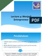 4. Menjadi Entrepreneur