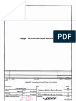 Design Calculation for Tower Foundations