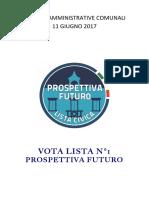 Prospettiva Futuro - Programma Elezioni Amministrative 2017