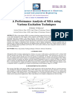A Performance Analysis of Msa Usingvarious Excitation Techniques