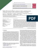 Photocatalytic Oxidation of Sulfur-containing Organic