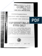 MJ-12 SO-1 Classified Army UFO Manual