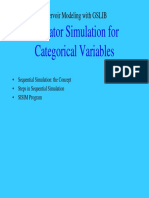 Indicator Simulation for Categorical variables