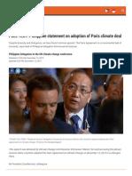 19) Philippine Statement in Final Paris Plenary