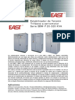 Estabilizadores de Tension Trifasicos East Sbw 20-320 Kva 13