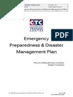 PLN ASM 308 Emergency Preparedness Disaster Management Plan v 4.0