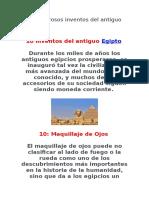10 Asombrosos Inventos Del Antiguo Egipto